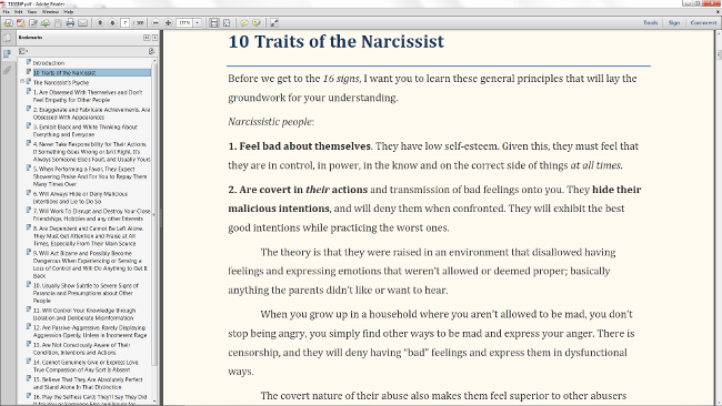 10 Traits of the Narcissist Preview