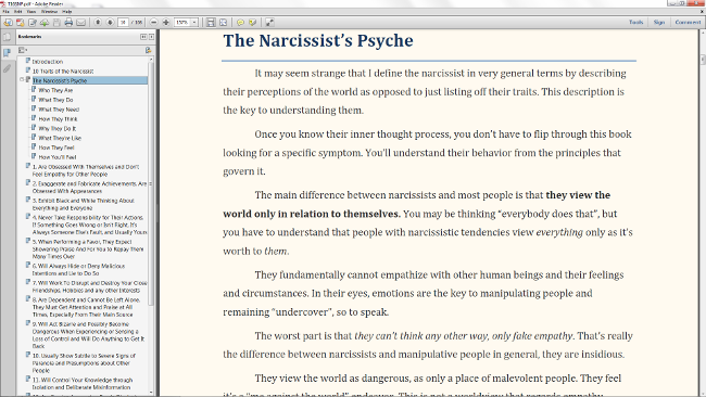 Psyche of the Narcissist Preview