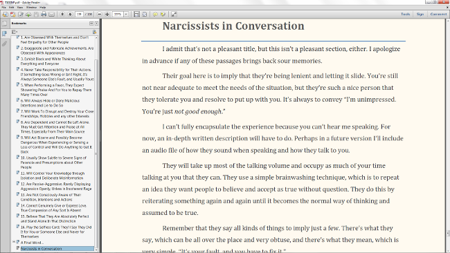 Narcissist's in Conversation Preview